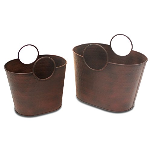 (Pilgrim Home and Hearth 19403 Kendell Wood Holder Set of 2, 2 Piece )