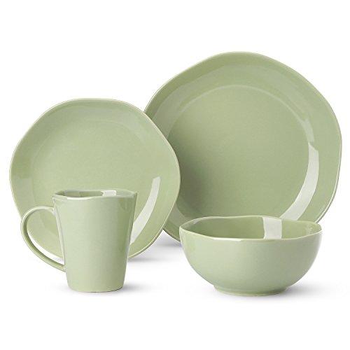 Dishes Dinnerware Set Irregular Glaze Dishware Set,Tableware Set One Set Service for One Person,Mint Green -