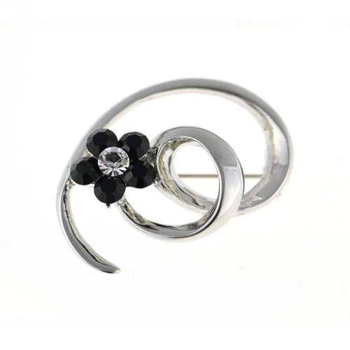 Black Swan Costume For Sale (Contemporary & Vintage Brooch Pins at Bargain price; Swarovski and Czech Crystals Mix. SWIRL Pin with Daisy Cluster Crystals, Elegant Timeless Dress & Coat Jewellery, 3 Colours options, Clear Diamond, Amethyst or Jet Black. Bargain Sale, Limited Stocks)