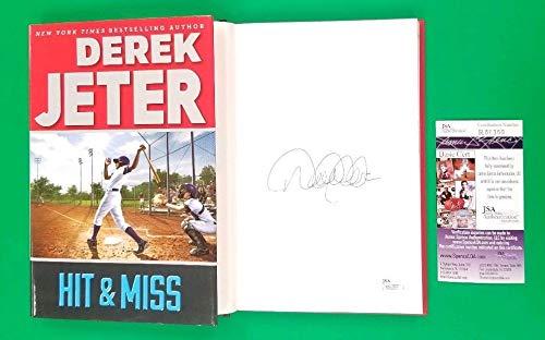 Derek Jeter Autographed Signed Baseball Book Hit & Miss Brand New Hardcover JSA Coa