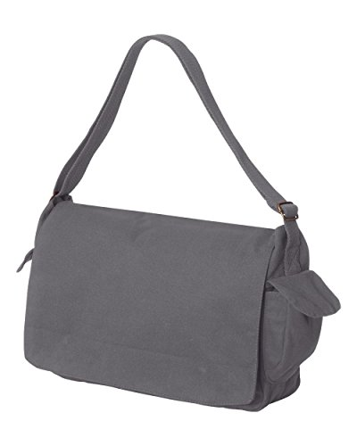 Tenacitee Born in 1978 - Aged Like a Fine Wine Grey Brushed Canvas Messenger Bag by Tenacitee (Image #1)