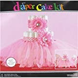 Pink Tutu Diaper Cake Decoration