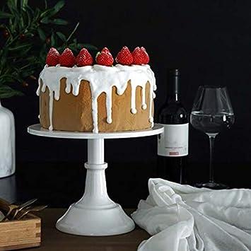 Blanco Guajave Pastel Expositor Postre Cupcake Bandeja para Servir Redondo 10 Pulgadas para Fiesta Boda