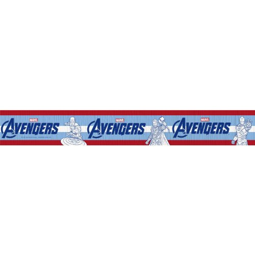 Hallmark Avengers Party Supplies Crepe Paper Streamer 30ft -