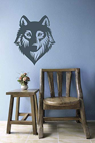 (Wolf Decal Wolf Decor Huskey Dog Decal Dog Decor Vinyl Decal Wall Sticker Wall Art Home Decor Dorm Decor Bedroom Decor and Stick Made in)