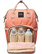 شنطة مستلزمات اطفال كبيرة مقاومة للماء من انيللو، شنطة ظهر للسفر متعددة الوظائف، شنطة لاغراض الرضاعة، شنطة الام العصرية، لون برتقالي، موديل 2725614198094