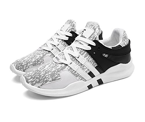 Magone Mens Mesh Athletisch Turnschuhe Low Top Laufschuhe Casual Leichte Gymnastik Workout Schuhe Weiß schwarz