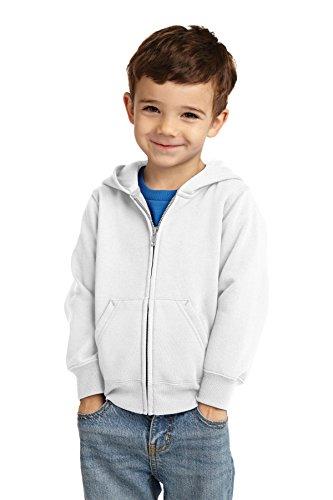 (Precious Cargo unisex-baby Full Zip Hooded Sweatshirt 3T White)