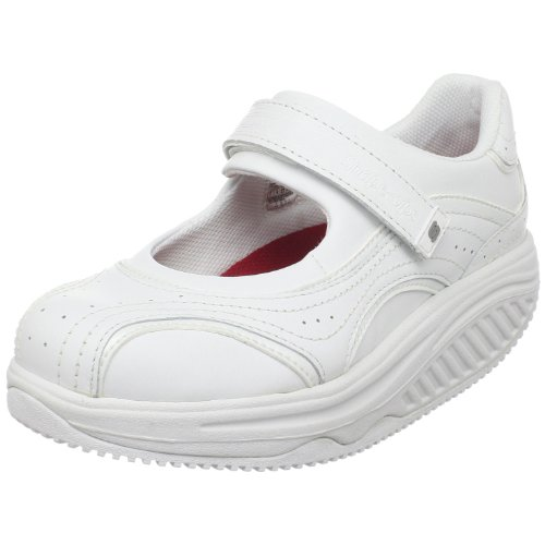 Skechers for Work Women's Shape Ups Motivator Mary Jane (White Jane Nursing Shoes Mary)