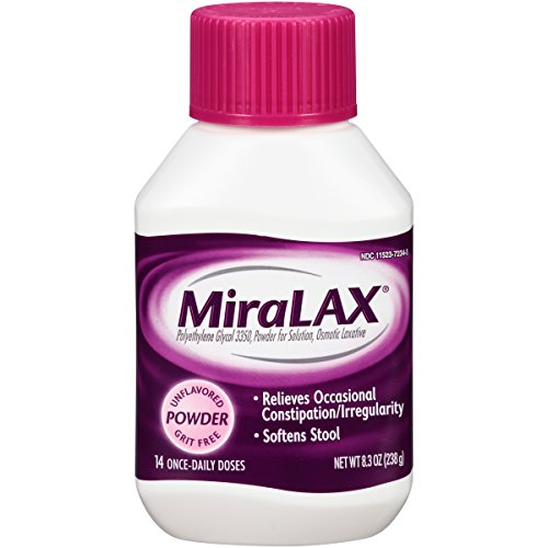 MiraLAX laxative powder, 14 doses, 8.3 Ounce (Pack of 12) by Miralax