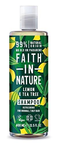 Faith In Nature Anti Dandruff Shampoo, Lemon and Tea Tree 400 ml