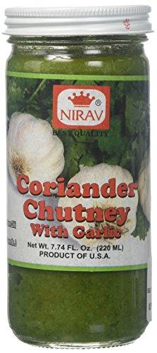 Nirav, Coriander Chutney W/ Garlic, 220 Grams(gm)