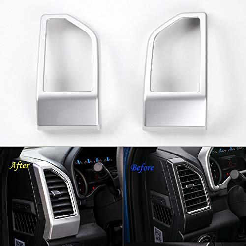 - Voodonala Silver Side Dashboard Panel Outlet Vent Covers Trim