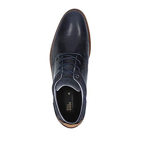 Para Cordones Cuero Azul Marine Bullboxer cognac De Hombre Zapatos IvP7Oqx