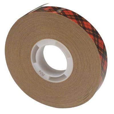 3M Scotch 924 ATG Tape: 1/2 in. x 36 yds. (Clear Adhesive on Tan Liner)
