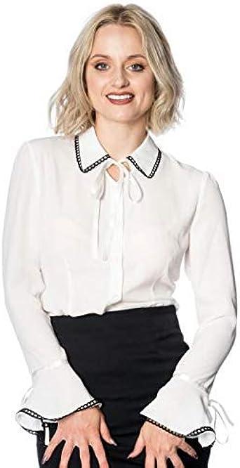 Banned Apparel Caroline 50s Vintage Formal Mujer con Cuello ...
