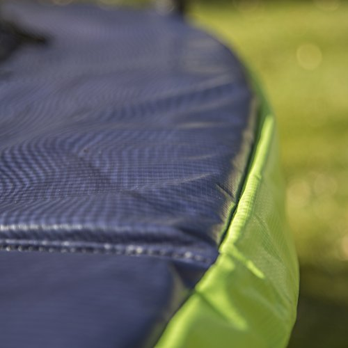 41W9rZFE1aL - ActivPlay 14' Round Trampoline & Enclosure, Blue/Green