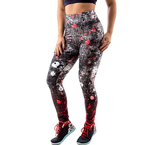 Calça Legging Spark Em Suplex - Vermelho E Preto