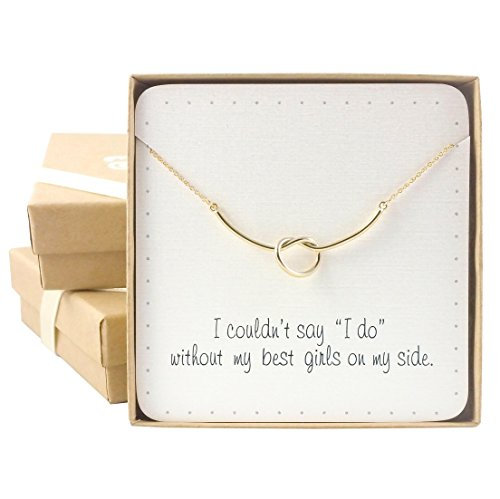 Bridesmaid Gifts - Dainty Heart Knot Necklace (16
