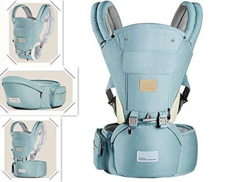 Ergonomic 360 Baby Soft Carrier, Comfortable Adjustable Positions,Breastfeeding Fits All Newborn Toddler,HipSeat Infant Child Carrier, All Seasons,Perfect for Hiking Shopping Travelling Green