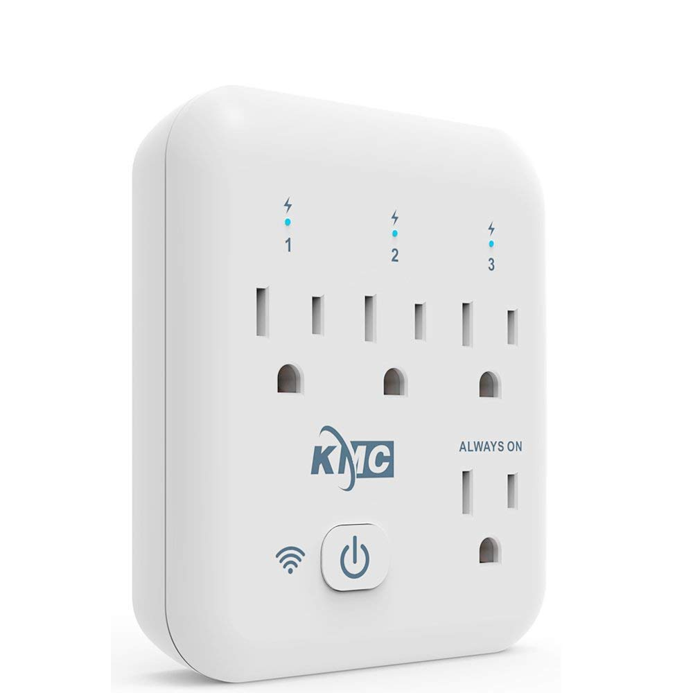 KMC 4 Outlet WiFi Smart Plug Energy Monitoring Smart Outlet, Remote Control Wall Surge Protector, No Hub Required, Works Amazon Alexa/Google Home/IFTTT