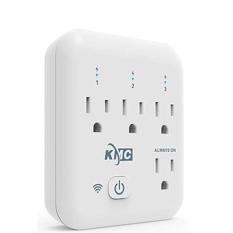 65c7fc3a31543 Amazon.com  KMC 4 Outlet WiFi Smart Plug Energy Monitoring Smart ...