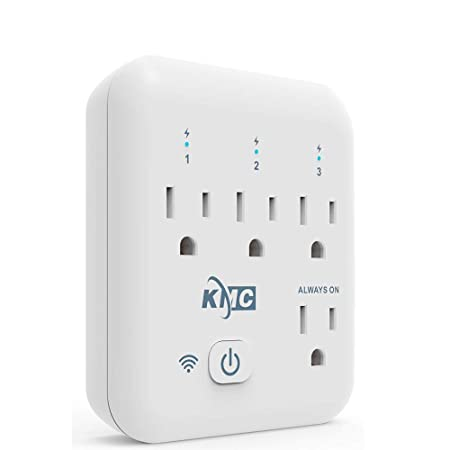 KMC 4 Outlet WiFi Smart Plug Energy Monitoring Smart Outlet, Remote Control Wall Surge Protector, No Hub Required, Works Amazon Alexa Google Home IFTTT
