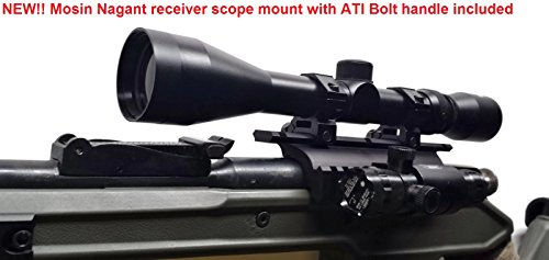 DELTAC Mosin Nagant Double Rail Scope Mount with Handle