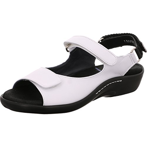 1300 Sandals blanco Black weiß Salvia 310 Womens Wolky Leder UZgHqndU