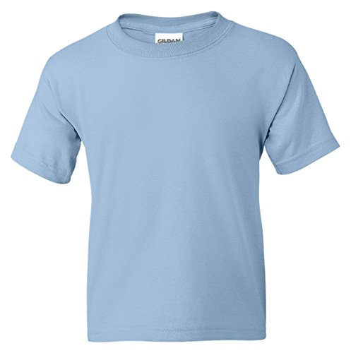 Gildan Dryblend Youth T-Shirt, Light Blue, Medium