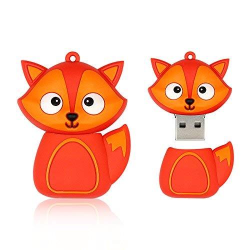 Aneew 16GB Pendrive Fire Fox Model 2.0 USB Flash Drive Memory Thumb Stick U Disk Gift