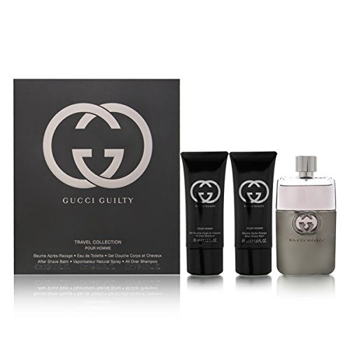 Gucci Guilty 3 Piece Gift Set for Men, 3.0 (Gucci Shampoo)