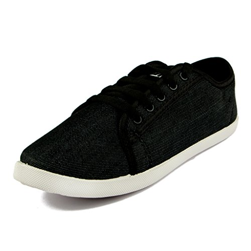 ASIAN Women #39;s Black Canvas Shoes
