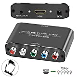 HDMI to YPbPr Converter Adapter, Amanka HDMI to Component Audio Video Converter, Supports 1080P for DVD PSP Xbox 360 PS2 Nintendo to HDTV Monitor