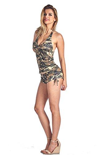 Women's Camo Bikini Tankini & Shorts 2-Piece Swimwear: T (XL) B (XL)