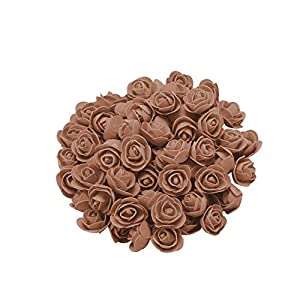 Konxxtt Home Decor, 200Pcs 1 inch Mini PE Foam Rose Artificial Silk Flower Heads for DIY Wreath Wedding Decoration 61