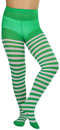 ToBeInStyle Girls' Horizontal Striped Full Length Tights -