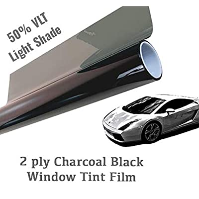 "The Online Liquidator 24"" x20' feet Black Window Tint Film Roll - Light Shade 50% VLT for Car and Residential Privacy Glass Easy DIY: Automotive"