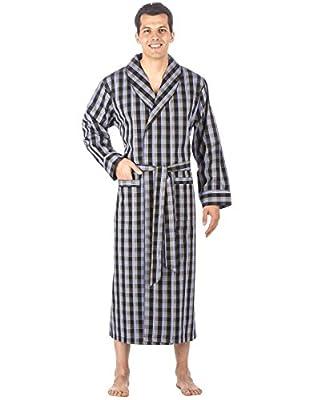 Noble Mount Mens Premium 100% Cotton Full-Length Robe