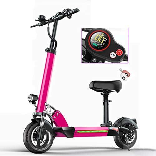 電動スクーター大人用シート、ハンドルとシートの高さ調整可能、強力な500Wモーター10インチタイヤ、キャリーが容易、最大速度55km / h、LEDディスプレイ、48V / 13AHバッテリー、通勤ストリートスクーター