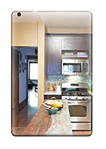 Shock-dirt Proof Kitchen With Tile Backsplash And Rustic Table Island Case Cover For Ipad Mini/mini 2