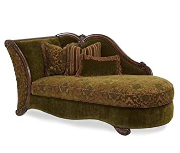 AICO Palace Gate Chaise in Royal Sable
