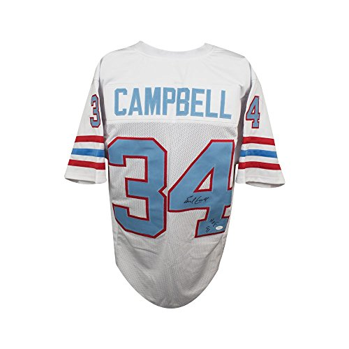 Earl Campbell HOF Autographed Houston Oilers Custom Football Jersey - JSA  (B) d8e09a316