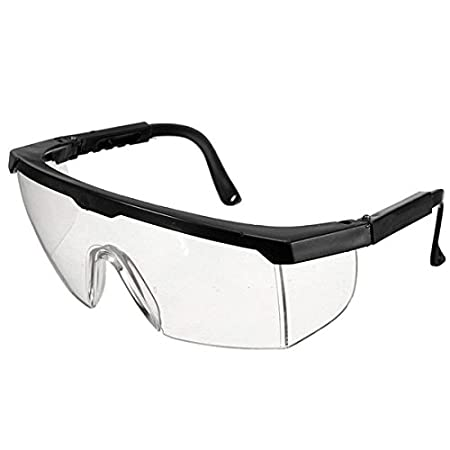 cf36c2c339a AUAUDATE Adjustable Clear Goggle Protection Glasses Protective Eye Impact  Curing Safety Lab   Dental (Black)  Amazon.co.uk  Kitchen   Home