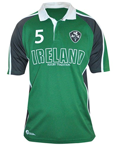 CROKER Green Panelled Ireland Rugby Jersey (Rugby Print Jersey)