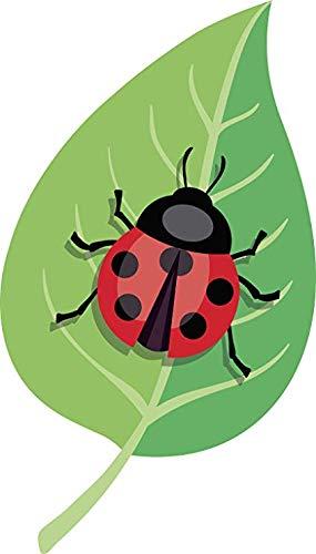 BW MAG Magnet Cool Cute Ladybug on Garden Leaf Cartoon (8