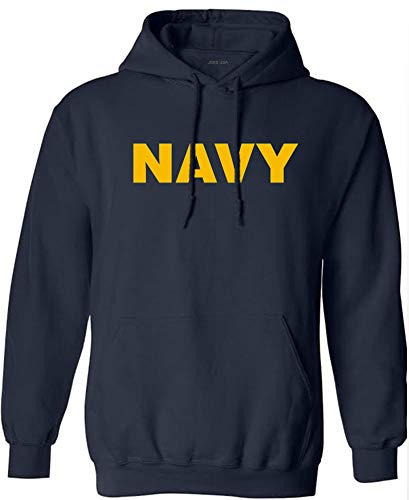 Joe's USA - Navy Logo Hooded Sweatshirt, Size S ()
