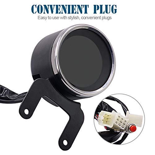Took09 Multifunction Motorcycle Tachometer Meter LED Backlight LCD Motorcycle Speedometer Digital Level Gauge