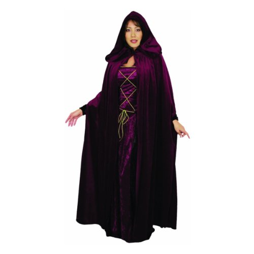 Charades Adult's Dark Lair Cloak, Black, One Size