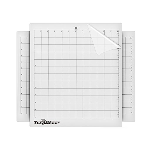TECKWRAP Adhesive Cutting Mat High Tack, 12 by 12 inch (3pcs/Pack) by TECKWRAP